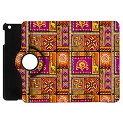 Traditional Africa Border Wallpaper Pattern Colored 3 Apple Ipad Mini Flip 360 Case by EDDArt