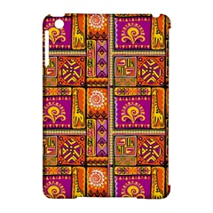 Traditional Africa Border Wallpaper Pattern Colored 3 Apple Ipad Mini Hardshell Case (compatible With Smart Cover)