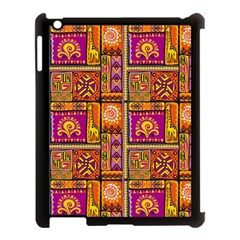 Traditional Africa Border Wallpaper Pattern Colored 3 Apple Ipad 3/4 Case (black)