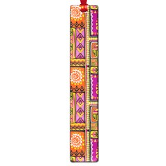 Traditional Africa Border Wallpaper Pattern Colored 3 Large Book Marks by EDDArt
