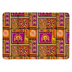 Traditional Africa Border Wallpaper Pattern Colored 3 Samsung Galaxy Tab 8 9  P7300 Flip Case by EDDArt