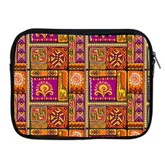 Traditional Africa Border Wallpaper Pattern Colored 3 Apple Ipad 2/3/4 Zipper Cases by EDDArt