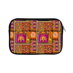Traditional Africa Border Wallpaper Pattern Colored 3 Apple Ipad Mini Zipper Cases by EDDArt