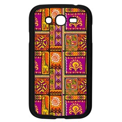 Traditional Africa Border Wallpaper Pattern Colored 3 Samsung Galaxy Grand Duos I9082 Case (black) by EDDArt