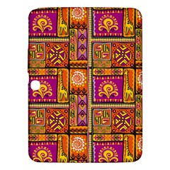 Traditional Africa Border Wallpaper Pattern Colored 3 Samsung Galaxy Tab 3 (10 1 ) P5200 Hardshell Case  by EDDArt