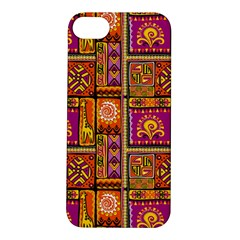 Traditional Africa Border Wallpaper Pattern Colored 3 Apple Iphone 5s/ Se Hardshell Case by EDDArt