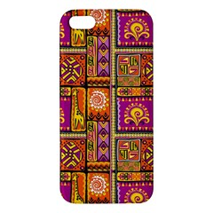 Traditional Africa Border Wallpaper Pattern Colored 3 Iphone 5s/ Se Premium Hardshell Case by EDDArt