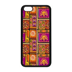 Traditional Africa Border Wallpaper Pattern Colored 3 Apple Iphone 5c Seamless Case (black)