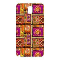 Traditional Africa Border Wallpaper Pattern Colored 3 Samsung Galaxy Note 3 N9005 Hardshell Back Case by EDDArt
