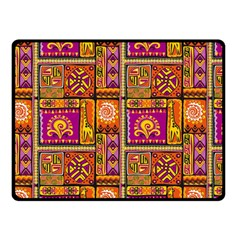 Traditional Africa Border Wallpaper Pattern Colored 3 Double Sided Fleece Blanket (small)  by EDDArt