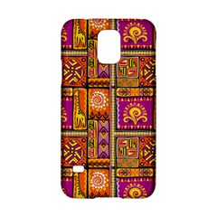 Traditional Africa Border Wallpaper Pattern Colored 3 Samsung Galaxy S5 Hardshell Case  by EDDArt
