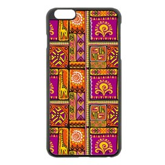 Traditional Africa Border Wallpaper Pattern Colored 3 Apple Iphone 6 Plus/6s Plus Black Enamel Case by EDDArt