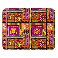 Traditional Africa Border Wallpaper Pattern Colored 3 Double Sided Flano Blanket (large)  by EDDArt