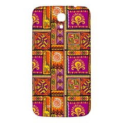 Traditional Africa Border Wallpaper Pattern Colored 3 Samsung Galaxy Mega I9200 Hardshell Back Case by EDDArt