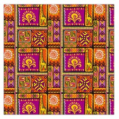 Traditional Africa Border Wallpaper Pattern Colored 3 Large Satin Scarf (square) by EDDArt