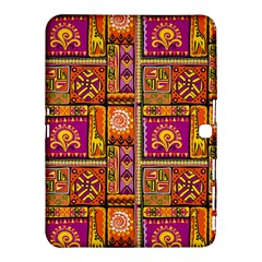 Traditional Africa Border Wallpaper Pattern Colored 3 Samsung Galaxy Tab 4 (10 1 ) Hardshell Case