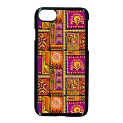 Traditional Africa Border Wallpaper Pattern Colored 3 Apple Iphone 7 Seamless Case (black) by EDDArt