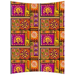 Traditional Africa Border Wallpaper Pattern Colored 3 Back Support Cushion by EDDArt