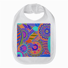 Pop Art Paisley Flowers Ornaments Multicolored 3 Bib by EDDArt