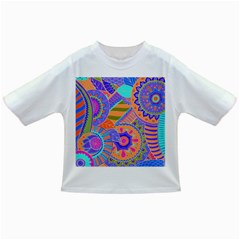 Pop Art Paisley Flowers Ornaments Multicolored 3 Infant/toddler T-shirts by EDDArt
