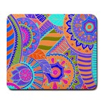 Pop Art Paisley Flowers Ornaments Multicolored 3 Large Mousepads Front