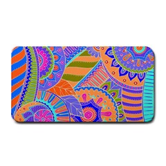 Pop Art Paisley Flowers Ornaments Multicolored 3 Medium Bar Mats by EDDArt