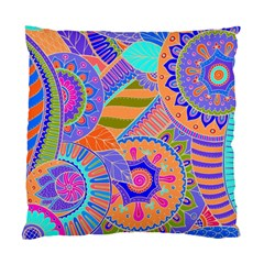 Pop Art Paisley Flowers Ornaments Multicolored 3 Standard Cushion Case (two Sides) by EDDArt