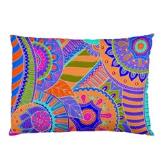 Pop Art Paisley Flowers Ornaments Multicolored 3 Pillow Case by EDDArt
