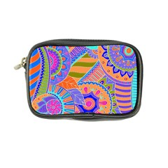 Pop Art Paisley Flowers Ornaments Multicolored 3 Coin Purse by EDDArt