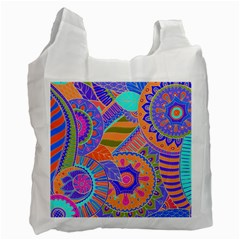 Pop Art Paisley Flowers Ornaments Multicolored 3 Recycle Bag (two Side)  by EDDArt