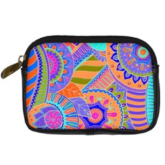 Pop Art Paisley Flowers Ornaments Multicolored 3 Digital Camera Cases by EDDArt