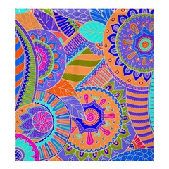 Pop Art Paisley Flowers Ornaments Multicolored 3 Shower Curtain 66  X 72  (large)  by EDDArt