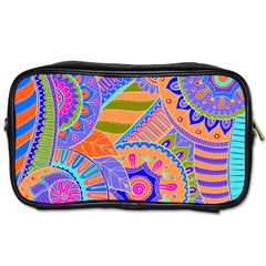 Pop Art Paisley Flowers Ornaments Multicolored 3 Toiletries Bags