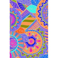 Pop Art Paisley Flowers Ornaments Multicolored 3 5 5  X 8 5  Notebooks by EDDArt