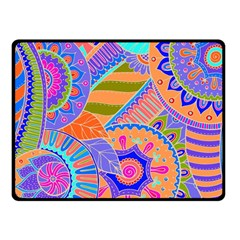 Pop Art Paisley Flowers Ornaments Multicolored 3 Fleece Blanket (small) by EDDArt