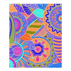 Pop Art Paisley Flowers Ornaments Multicolored 3 Shower Curtain 60  X 72  (medium)  by EDDArt