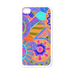 Pop Art Paisley Flowers Ornaments Multicolored 3 Apple Iphone 4 Case (white) by EDDArt