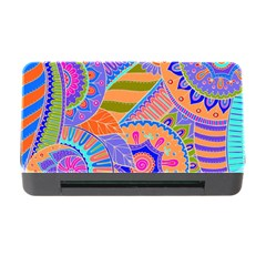 Pop Art Paisley Flowers Ornaments Multicolored 3 Memory Card Reader With Cf by EDDArt