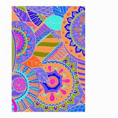 Pop Art Paisley Flowers Ornaments Multicolored 3 Small Garden Flag (two Sides)