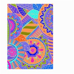 Pop Art Paisley Flowers Ornaments Multicolored 3 Large Garden Flag (two Sides)