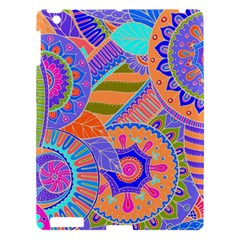 Pop Art Paisley Flowers Ornaments Multicolored 3 Apple Ipad 3/4 Hardshell Case by EDDArt