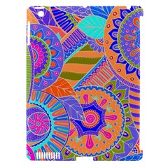 Pop Art Paisley Flowers Ornaments Multicolored 3 Apple Ipad 3/4 Hardshell Case (compatible With Smart Cover) by EDDArt