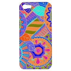 Pop Art Paisley Flowers Ornaments Multicolored 3 Apple Iphone 5 Hardshell Case