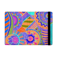 Pop Art Paisley Flowers Ornaments Multicolored 3 Apple Ipad Mini Flip Case by EDDArt