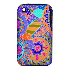 Pop Art Paisley Flowers Ornaments Multicolored 3 Iphone 3s/3gs by EDDArt