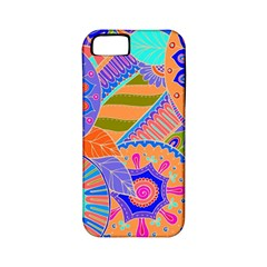 Pop Art Paisley Flowers Ornaments Multicolored 3 Apple Iphone 5 Classic Hardshell Case (pc+silicone) by EDDArt