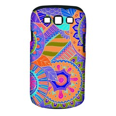 Pop Art Paisley Flowers Ornaments Multicolored 3 Samsung Galaxy S Iii Classic Hardshell Case (pc+silicone)