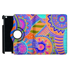 Pop Art Paisley Flowers Ornaments Multicolored 3 Apple Ipad 3/4 Flip 360 Case by EDDArt