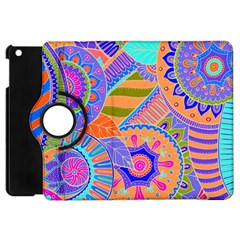 Pop Art Paisley Flowers Ornaments Multicolored 3 Apple Ipad Mini Flip 360 Case