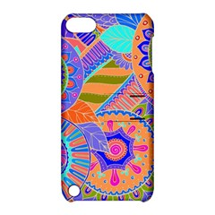 Pop Art Paisley Flowers Ornaments Multicolored 3 Apple Ipod Touch 5 Hardshell Case With Stand by EDDArt